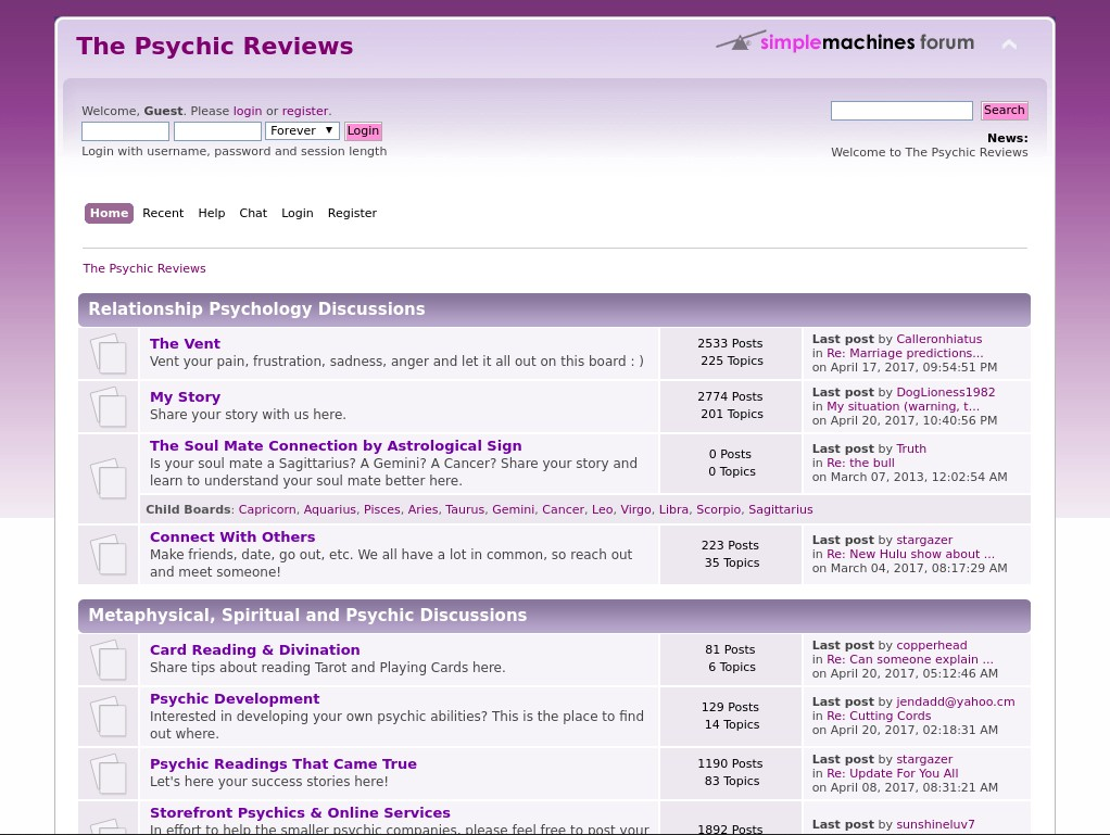http://www.thepsychicreviews.com/forum/