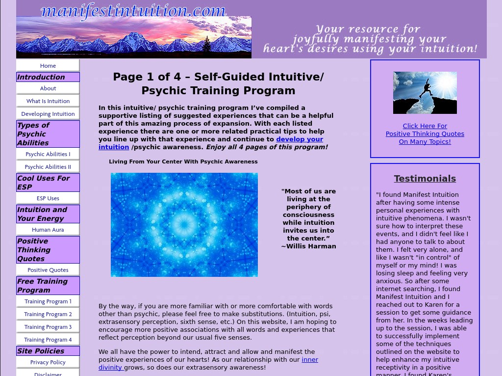 http://www.manifestintuition.com/psychic-training.html