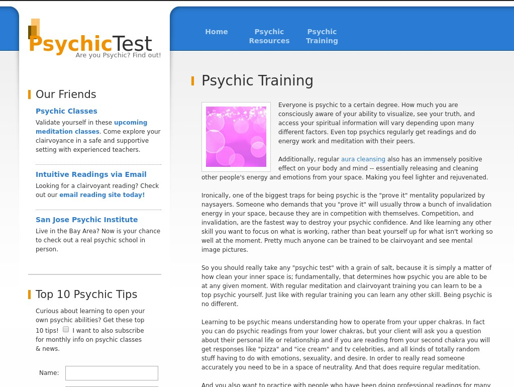 http://www.psychic-test.org/psychic-training.php